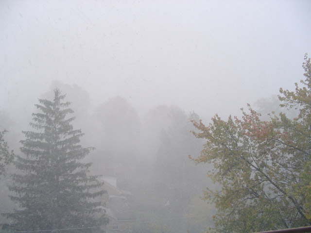 Snow in early October!