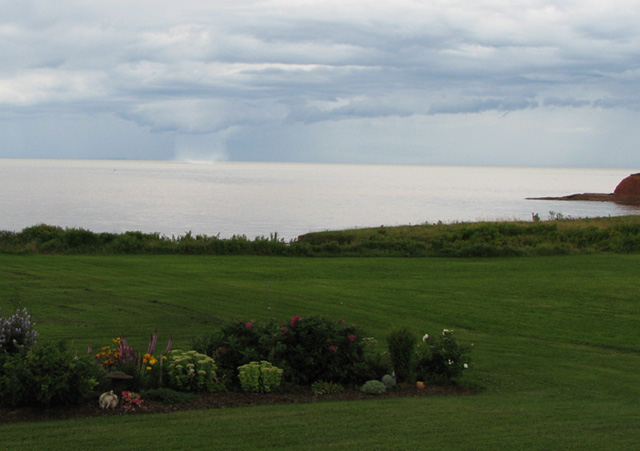 Waterspout on PEI, zoomed out for perspective