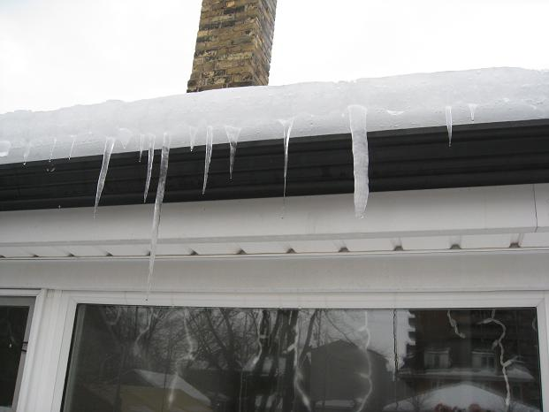3 Inches of ice, above the level of the eaves!!
