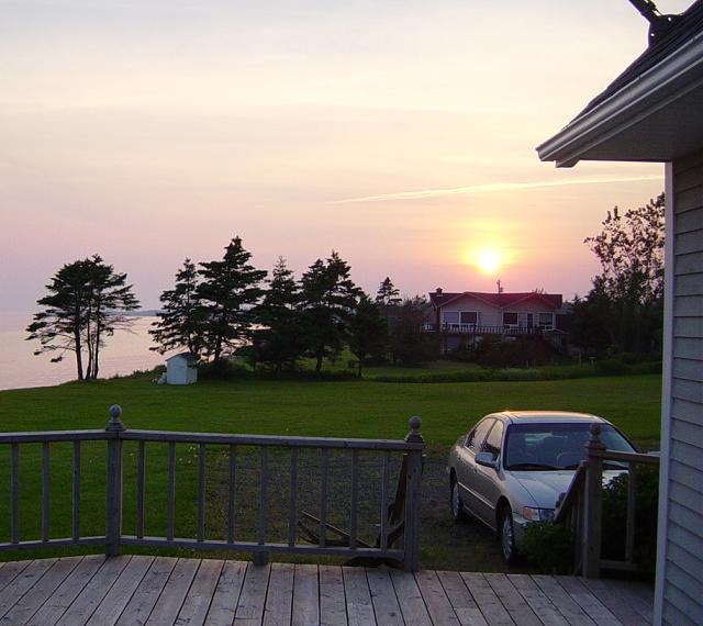 The old Accord on PEI with the sunset it'll drive off into