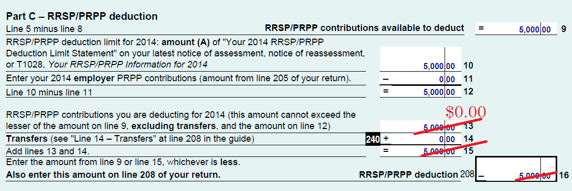 An image of the CRA's Schedule 7 for deferring your RRSP contribution.