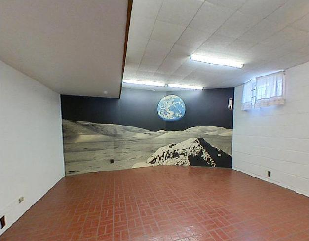Space wall. A whole wall for a space scene. In your basement. What more do you need from a house?