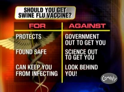 There are good arguments for both sides of whether to get the swine flu vaccine... if you